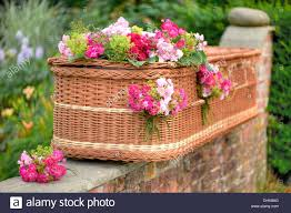 wicker casket coffin stock photos coffin stock images alamy