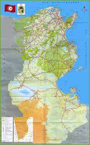 tunisia physical map tunisia maps maps of tunisia