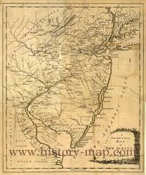 Map New Jersey Jersey In 1780