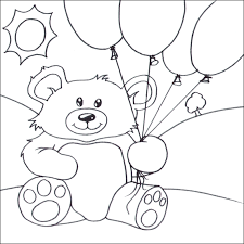 teddy bears in balloons teddy balloons coloring