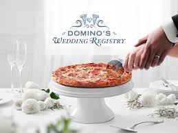 domino wedding rings stop everything domino s now has a pizza wedding registry