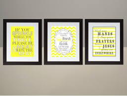 chevron bathroom ideas yellow gray chevron bathroom wall print set poster 8x10