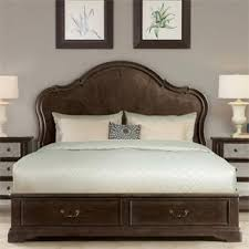 Verona Bed Frame Verona Panel Bed With Storage Footboard I Riverside Furniture