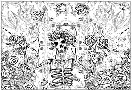 grateful dead art by valentin psychedelic coloring pages for