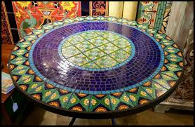 Mosaic Table L Tile And Glass Mosaic Tables Garden Table Project Pictures