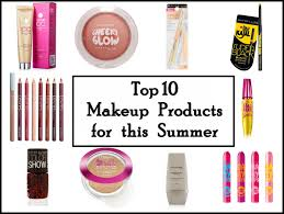 top 10 makeup products for summers