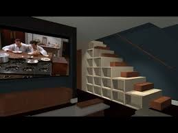stair bookcase unique stair bookcase furniture youtube