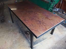 Stainless Desk Countertops Volcanic Stainless Milo U0027s Art Metal