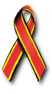 black and yellow ribbon with yellow and black stripes ribbon