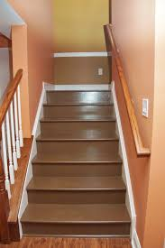 painted basement stairs painting wood basement steps danks and