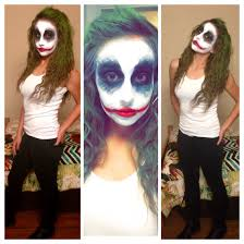 female joker makeup for halloween party fright night