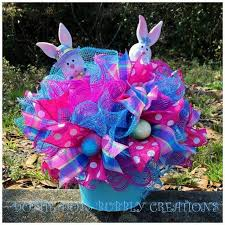 Easter Decorations With Deco Mesh by 85 Best Deco Mesh Easter Images On Pinterest Easter Wreaths