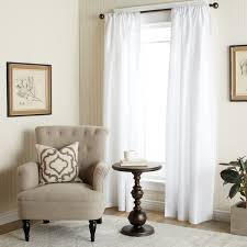 White Faux Silk Curtains The Gray Barn Dogwood White Faux Silk 84 Inch Curtain Panel Free