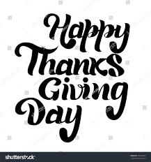 thanksgiving day lettering black on stock vector 753162445