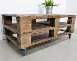 Light Oak Coffee Tables by Ahvima Industrial Pallet Coffee Table Made Of Reclaimed Timber