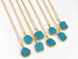 natural turquoise necklace images Natural stone pendant necklace turquoise color handmade jpg