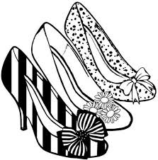 coloring shoes heels 11