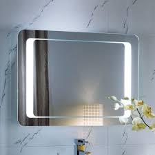 Lighted Bathroom Wall Mirrors Stylish Lighted Bathroom Mirrors On Interior Design Ideas With