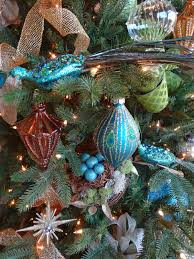 Barcana Christmas Trees by Seahorse U0026 Stripes Vintage Glam Peacock Christmas Tree