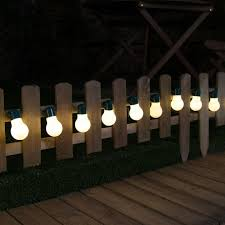 Outdoor Solar Lights For Fence Top Solar Festoon Lights 12 Warm White Outdoor Solar Lights