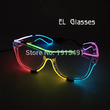 cheap stage lights led rope blinking masque theme glasses diy toys