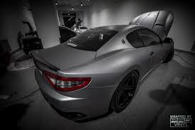maserati gt matte black vehicle vinyl wrapping and car paint protection 12