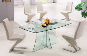 finding suitable design glass dining room table amaza fascinating clear glass dining room table completed with decorations plus furnished unique armless chairs matched