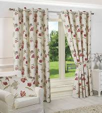 Short Drop Ready Made Curtains Floral Ready Made Curtains Ebay