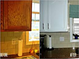 Old Kitchen Cabinet Ideas by Delighful Painting Oak Kitchen Cabinets Before And After White