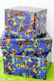 tmnt wrapping paper mutant turtle party ideas dude