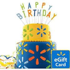 birthday cake walmart egift card walmart com