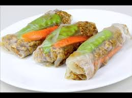 rice paper wrap chicken in rice paper rolls