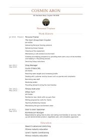 personal trainer resume resume badak