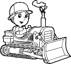 manny bulldozer coloring page wecoloringpage