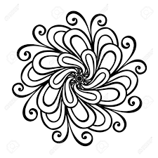 beautiful decorative flower vector patterned design royalty free