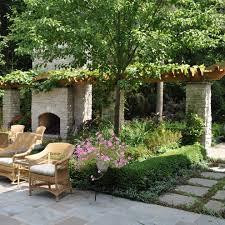 Backyard Beer Garden - german beer garden landscape traditional with chicago fence
