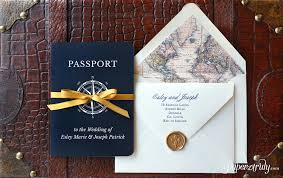 passport wedding invitations come away with me passport wedding invitation