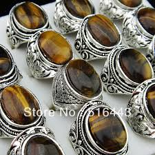 tiger eye jewelry its properties big mix style lots 5pcs vintgage silver tiger eye stones