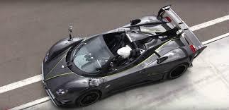pagani zonda pagani zonda 760lm roadster reved hard on track autoevolution
