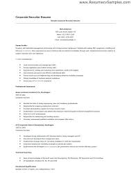 recruiter resume exle hr recruiter resume passionative co