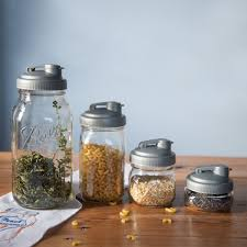 What To Put In Kitchen Canisters Amazon Com Recap Mason Jars Pour Wide Mouth Canning Jar Lid