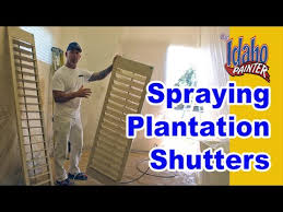 How To Paint Wood Blinds Painting Plantation Shutters How To Spray Interior Wood Shutters