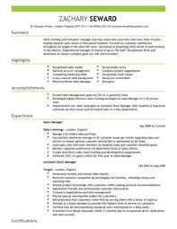 Great Sales Resume Sales Resume Template Template
