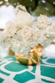 White Roses Centerpieces by Modern Garden Party In Southern California White Rose