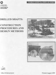o neil reese 1999 drilled shafts construction procedures and