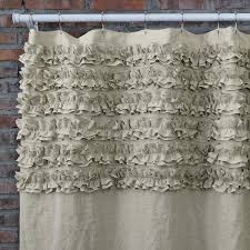 Ruffled Shower Curtains Ruffle Shower Curtains Bath Curtains Linenshed Linenshed