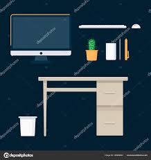 ensemble ordinateur de bureau lieu de travail ensemble ordinateur de bureau ordinateur