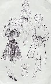 v shaped dress pattern vintage 1940 s sewing pattern rare child s dress v shaped pockets