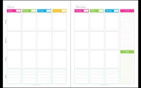 calendar any year unfilled blank1 week 2 page spread