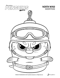 penguins of madagascar coloring pages free printable coloring 7462